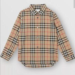 Burberry Kids Cotton Vintage Check Shirt 4Y